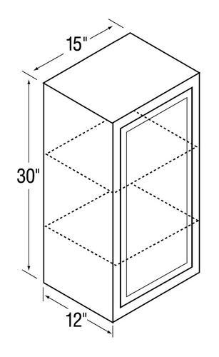 Kitchen kompact glenwood 15w 15 x 30 beech wall cabinet for Beech kitchen wall cupboards
