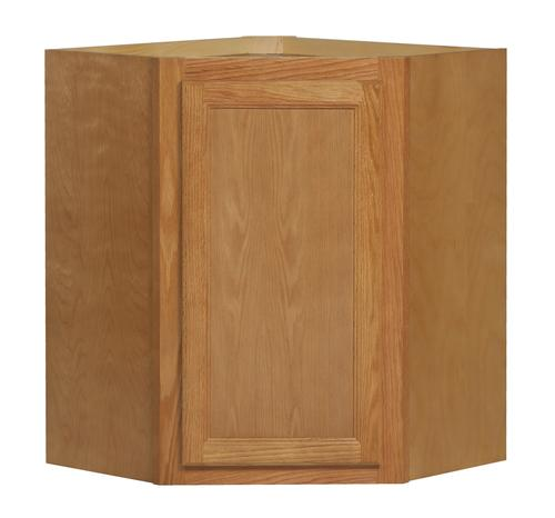 Kitchen kompact chadwood 24 x 30 oak diagonal wall for Kitchen cabinets 30 x 24