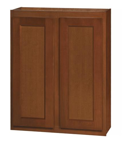 Kitchen kompact glenwood 27 x 30 beech wall cabinet at for Beech kitchen wall cupboards