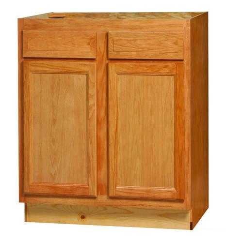 Kitchen Kompact Cabinets Kitchen Kompact Chadwood Oak 33B Oak Base Cabinet At Menards