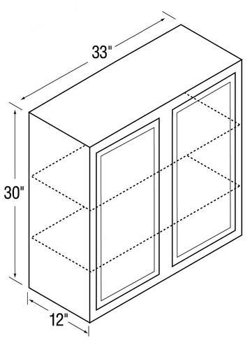 Kitchen kompact glenwood 33w 33 x 30 beech wall cabinet for Beech kitchen wall cupboards