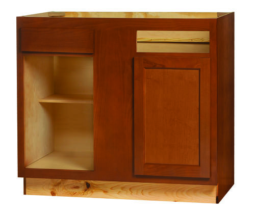 Kitchen Kompact Glenwood 39BC Beech Base Corner Cabinet At