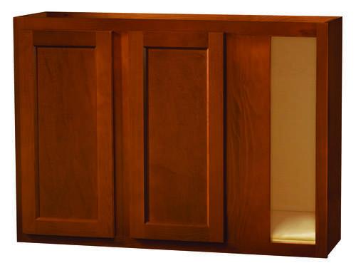 Kitchen kompact glenwood 42 x 30 beech corner wall for Beech kitchen wall cupboards