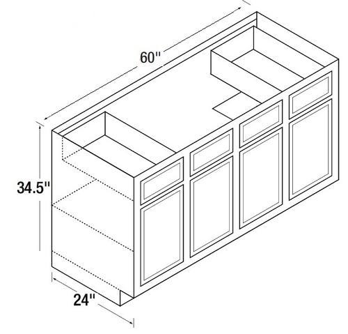 kitchen kompact glenwood 60sb 60 quot beech sink base cabinet