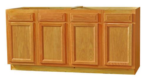 Kitchen kompact chadwood 72sb 70 oak sink base cabinet at for Kitchen cabinets 72