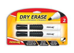 Promarx Black Dry Erase Markers - 2 pk.