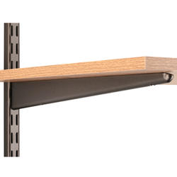 "Dual Trak 14"" Bronze Wood Shelf Bracket"