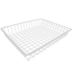 """4"""" White Deep Wire Basket"""