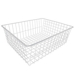 """7"""" White Deep Wire Basket"""