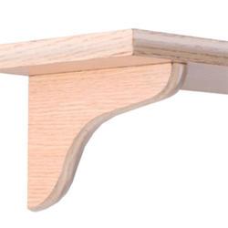 "7"" Oak Decorative Wood Corbel"