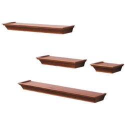4-Piece Honey Pine Decorative Ledge Set