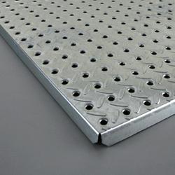"HEAVYWEIGHT 16"" x 48"" Diamond Plate Steel Pegboard"