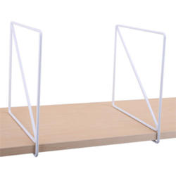 "8"" White Wire Shelf Dividers for Wood Shelving"