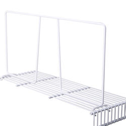 "8"" White Wire Shelf Divider for Wire Shelving"