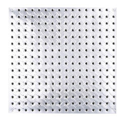 "HEAVYWEIGHT 16"" x 16"" Diamond Plate Steel Pegboard"