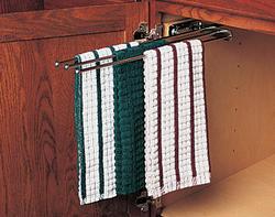 """Knape & Vogt 18"""" Steel Slide-Out Towel Bar"""