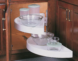 "Knape & Vogt 39-7/8"" Half Moon Lazy Susan Glide Shelf Unit"