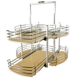 Knape & Vogt 2-Shelf Flat Full Round Pivot Wood Lazy Susan