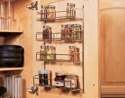 "Knape & Vogt 10-3/4"" Door-Mounted 4-Tiered Spice Rack"