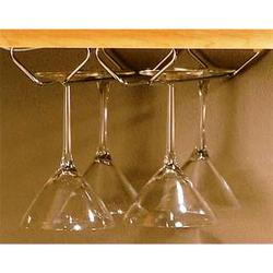 "Knape & Vogt 4"" x 11-1/2"" Single Row Stemware Holder"