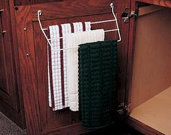 """Knape & Vogt 12-3/8"""" Door-Mounted Wire Frame Towel Bar Holder"""