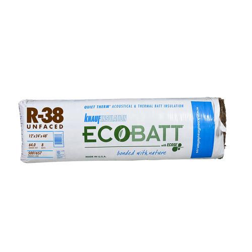 Knauf insulation r 38 12 x 24 x 48 unfaced fiberglass for Batt insulation cost