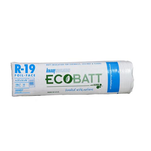 Knauf insulation r 19 6 1 4 x 16 x 96 ffb fiberglass for R value of fiberglass batt insulation
