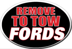 "Knockout ""REMOVE TO TOW FORDS"" Hitch Cover"
