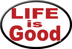 """Knockout '""""LIFE is Good"""" Hitch Cover"""