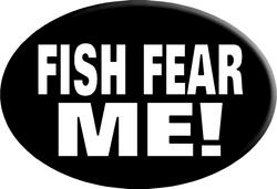 "Knockout ""FISH FEAR ME!"" Hitch Cover"