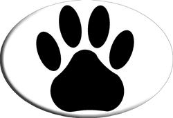 Knockout Paw Prints Hitch Cover