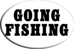 """Knockout """"GOING FISHING"""" Hitch Cover"""