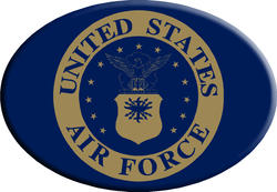 Knockout Air Force Symbol Hitch Cover