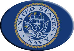 Knockout Navy Symbol Hitch Cover