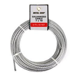 "3/16"" x 50' Galvanized Cable"