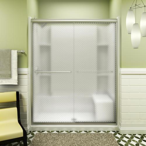 Sterling Finesse Frameless By Pass Shower Door At Menards 174