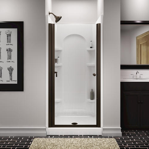 Sterling Finesse Frameless Hinge Shower Door At Menards 174