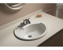 "Sterling Sanibel 20"" x 17"" x 8"" Oval Bathroom Sink (4"" Holes)"