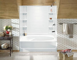 Sterling Advantage Bath/Shower with Place Backers (Left-Hand Drain)