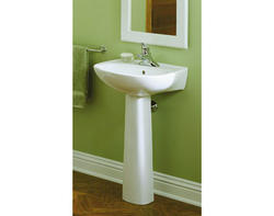 "Sterling Sacramento® 21"" x 18"" x 33"" Pedestal Bathroom Sink (4"" Holes)"