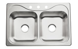 Sterling Southhaven 3-Hole Double-Basin Kitchen Sink
