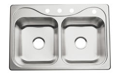 Sterling Southhaven 4-Hole Double-Basin Kitchen Sink
