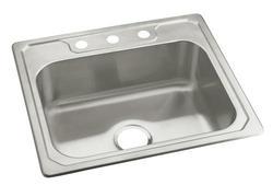 """Sterling Middleton 25"""" x 22"""" Sink 3-Hole Single-Basin Kitchen"""