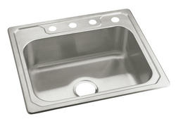 """Sterling Middleton 25"""" x 22"""" 4-Hole Single-Basin Kitchen Sink"""