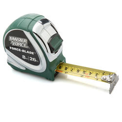 Masterforce® 26'/8m Wide Blade Tape Measure