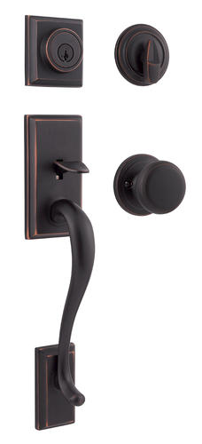 Kwikset Hawthorne SmartKey Venetian Bronze Single Cylinder Handleset At Menards