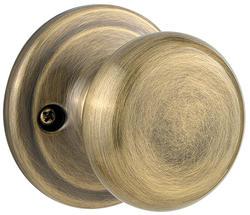 Kwikset Juno Antique Brass Half-Dummy Knob