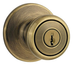 Kwikset Tylo Antique Brass Entry Knob