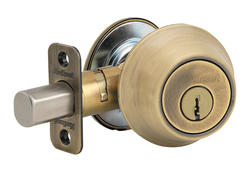 Kwikset 665 Antique Brass Double Cylinder Deadbolt