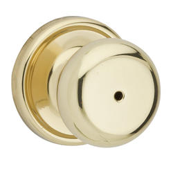 Kwikset Juno Polished Brass Bed/Bath Knob